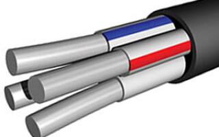 Основные технические характеристики силового кабеля АВВГ