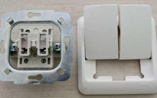 Как подключить двухклавишный выключатель самостоятельно