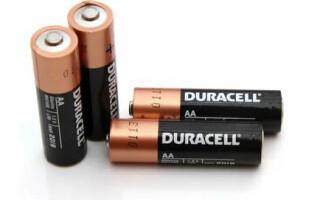 Какие виды батареек существуют: в чём отличия пальчиковых батареек AA от AAA