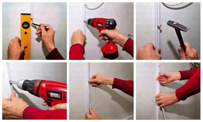 Как закрепить провода силового кабеля на стене - все способы