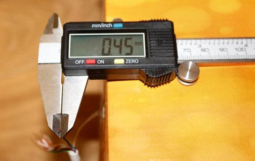 Определение площади сечения проводника по его диаметру