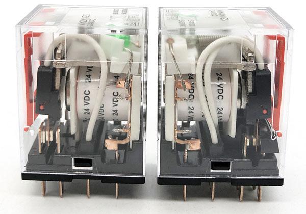 Электромагнитное реле с катушкой на 24 В постоянного тока.