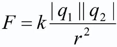 Формула закона Кулона.