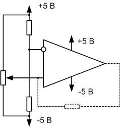 Схема работы ОУ в качестве компаратора.