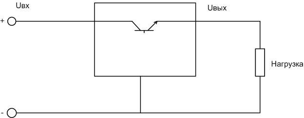 Принципмальная схема микросхемы LM317.