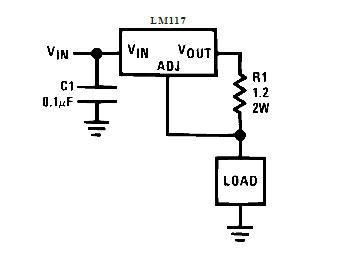 Схема стабилизатора тока на LM317.