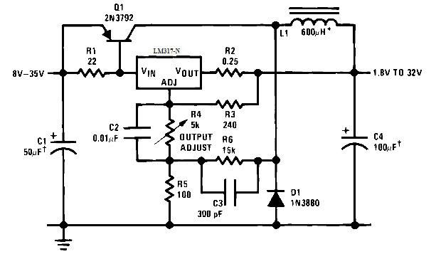 Схема импульсного блока питания на LM317.