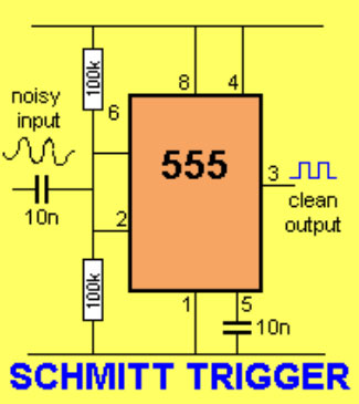 Триггер Шмитта на NE555.