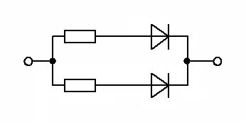 Использование резистора в схеме, лдя защиты диода.