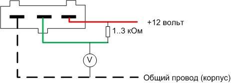 Проверка датчик Холла, установленный в системе бесконтактного зажигания автомобиля.