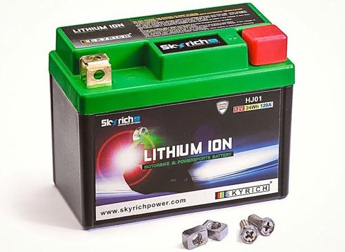 Внешний вид литий-ионного аккумулятора для мотоцикла.